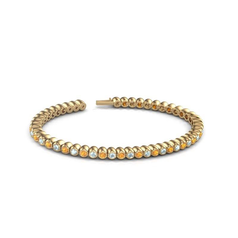 Tennisarmband Patrica 375 goud citrien 2.4 mm