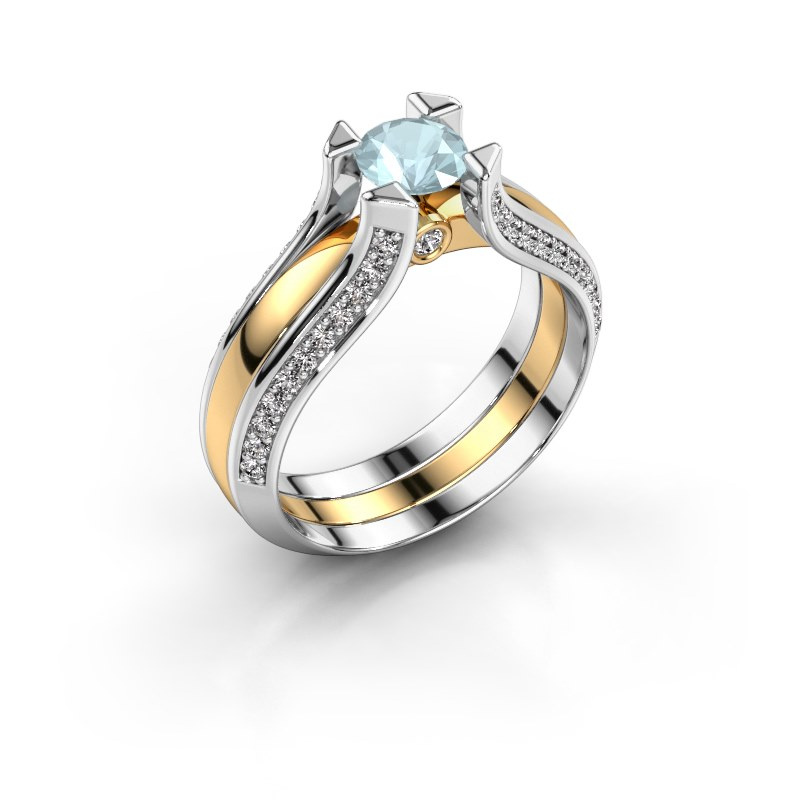 Engagement ring Nadine 585 gold aquamarine 5 mm