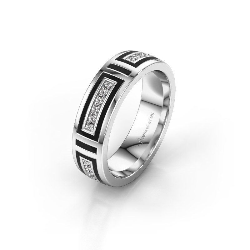 Wedding ring WH2228L25A 585 white gold ±5x1.7 mm