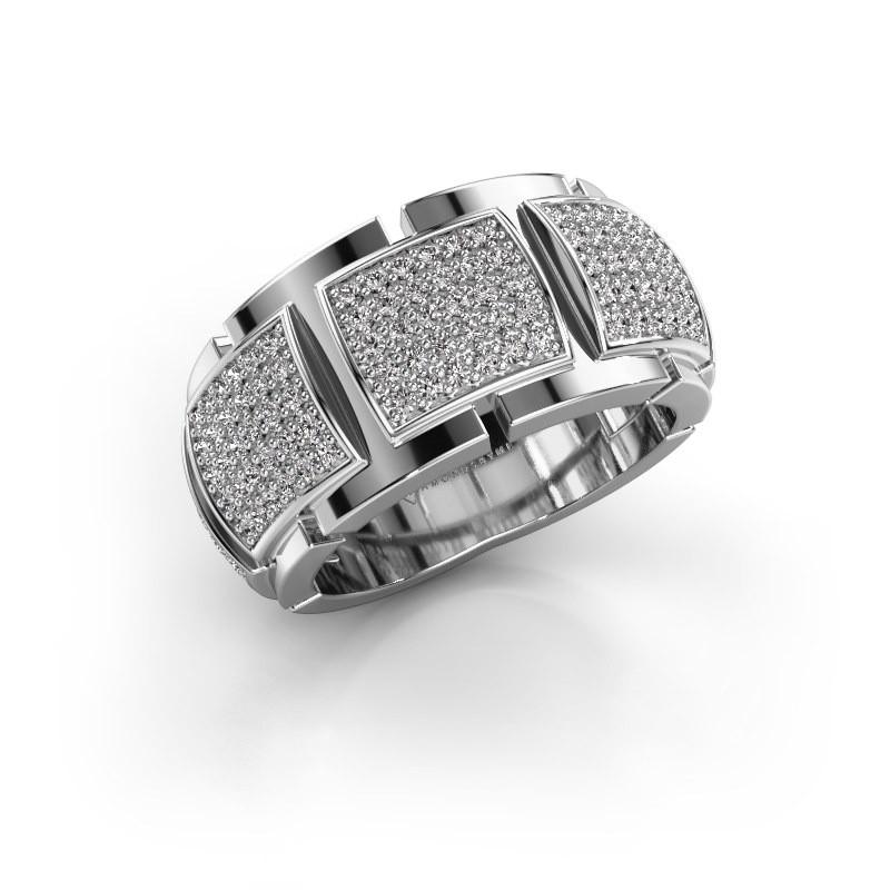 Ring Laura 585 witgoud zirkonia 1 mm