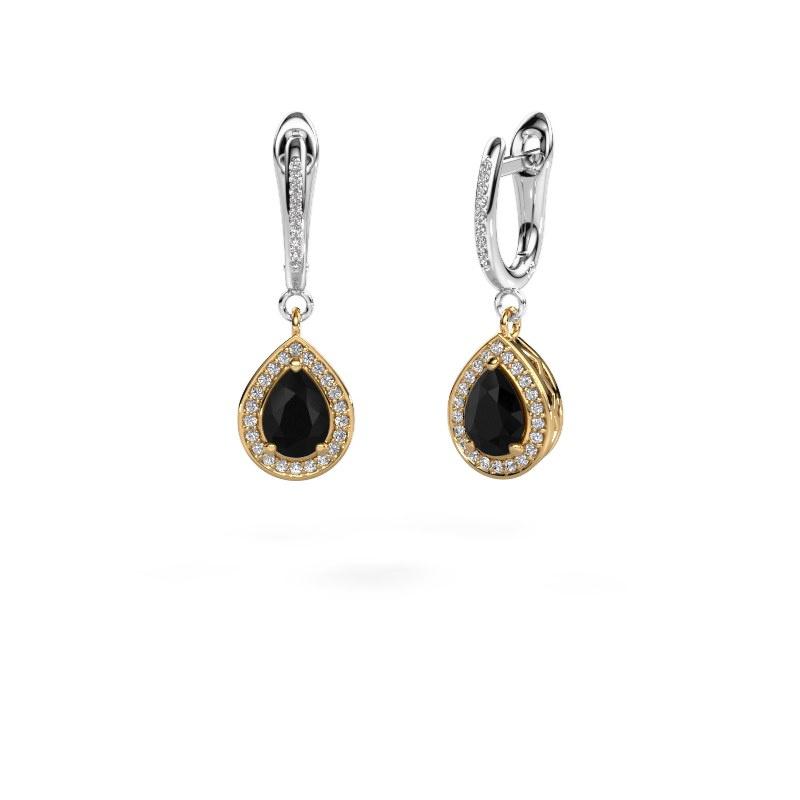 Oorhangers Ginger 2 585 goud zwarte diamant 2.155 crt