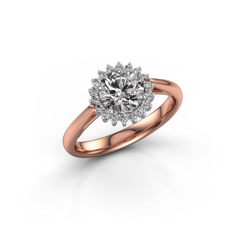 Verlovingsring Tilly RND 1 585 rosé goud diamant 1.00 crt