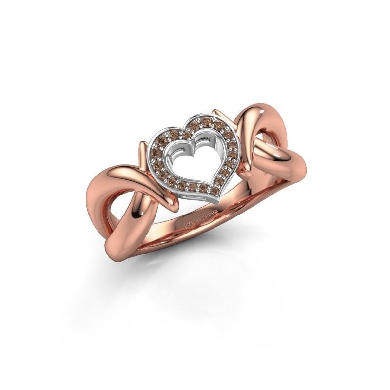 Ring Earlie 1 585 Roségold Braun Diamant 0.077 crt