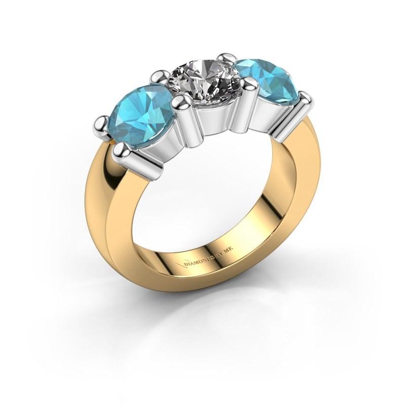Verlobungsring Yasmin 3 585 Gold Diamant 1.00 crt