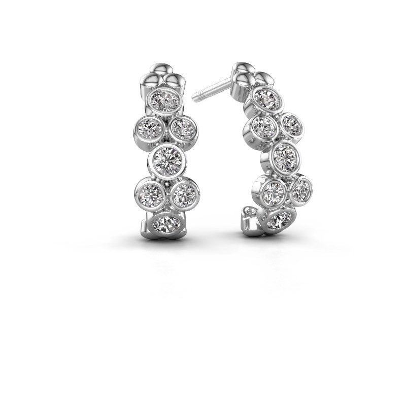 Earrings Kayleigh 950 platinum lab grown diamond 0.57 crt