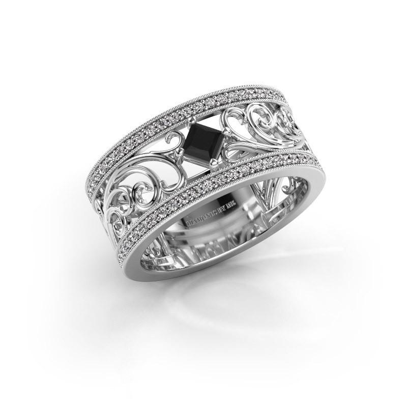 Ring Danae 925 Silber Schwarz Diamant 0.614 crt