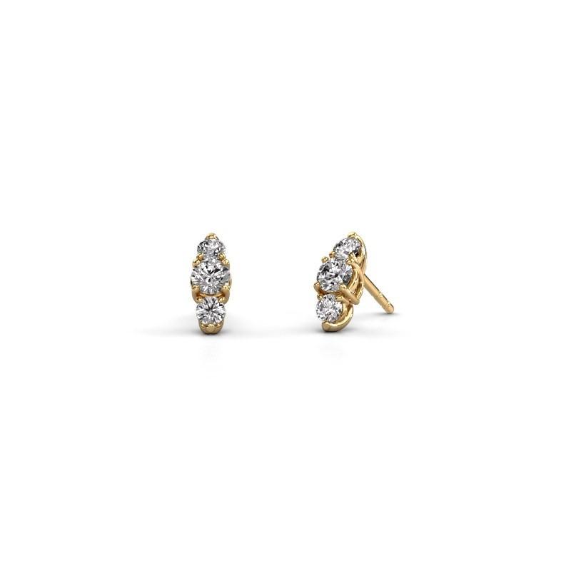 Oorbellen Amie 375 goud diamant 0.90 crt