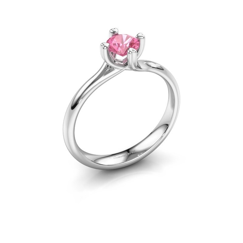Verlobungsring Livia 925 Silber Pink Saphir 5 mm