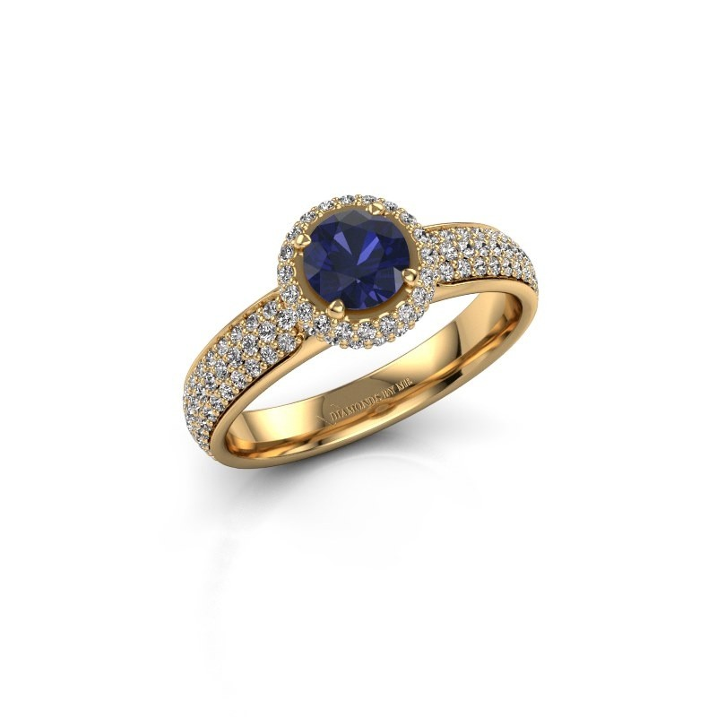 Engagement ring Mildred 375 gold sapphire 5 mm
