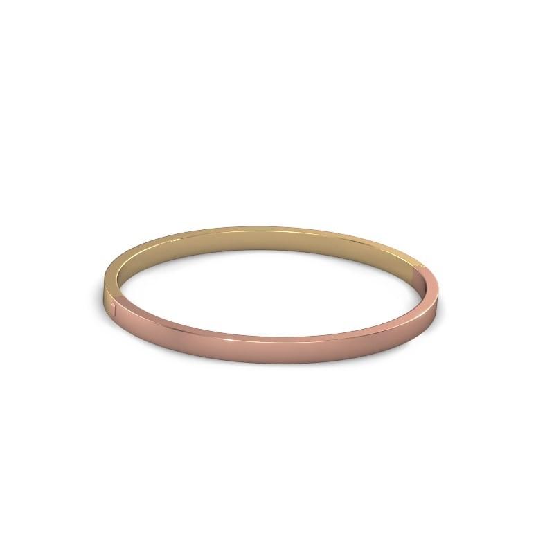 Slavenarmband Edra 4mm 585 rosé goud