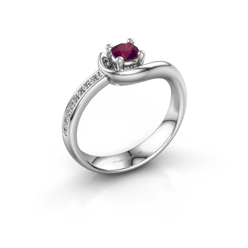 Ring Ceylin 950 platinum rhodolite 4 mm