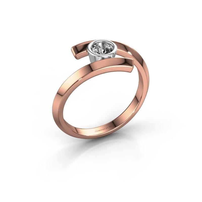 Bague Mara 585 or rose diamant 0.25 crt