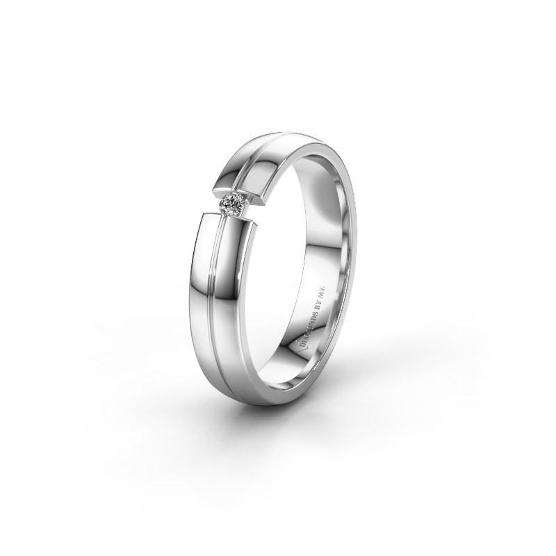 Trouwring WH0254L24X 950 platina diamant ±4x1.5 mm