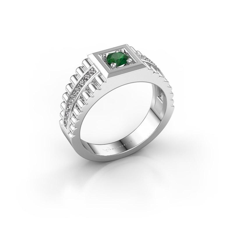 Men's ring Maikel 925 silver emerald 4.2 mm