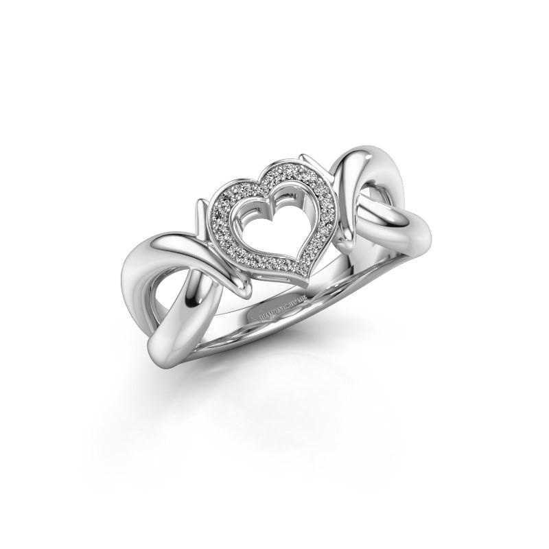 Ring Earlie 1 585 witgoud diamant 0.077 crt