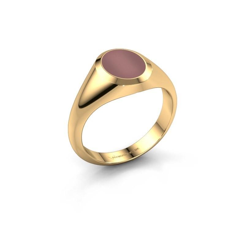 Pinkring Herman 1 585 goud carneool 10x8 mm