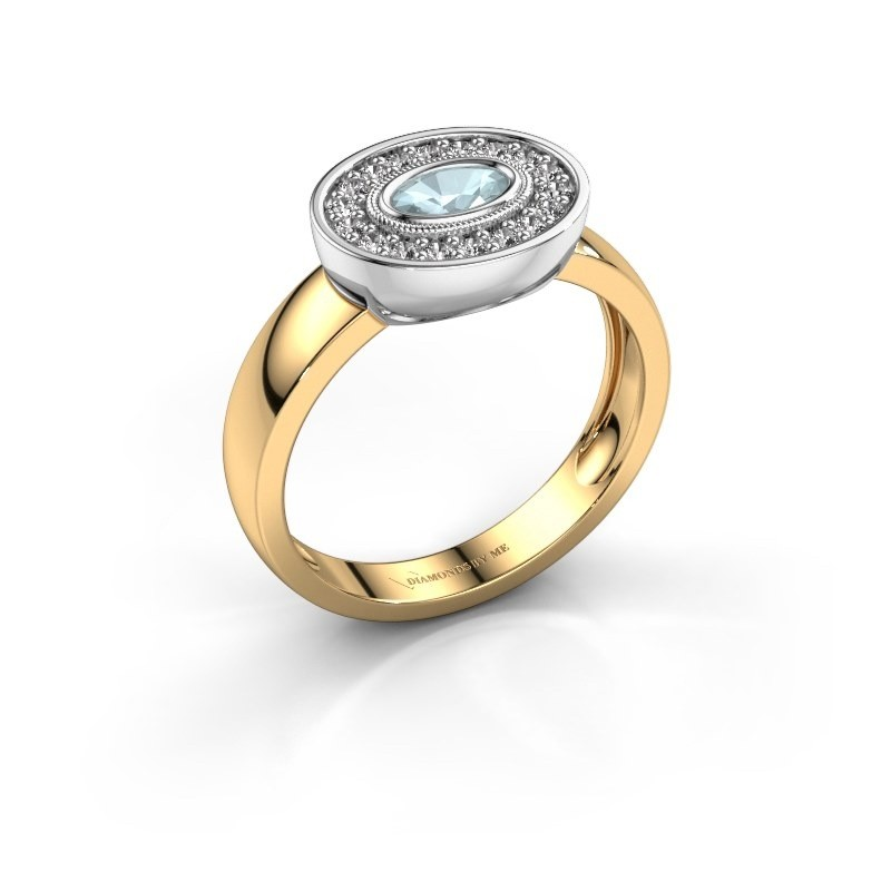 Ring Azra 585 Gold Aquamarin 5x3 mm