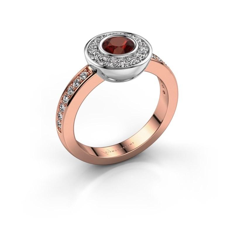 Ring Ivy 585 rose gold garnet 5 mm
