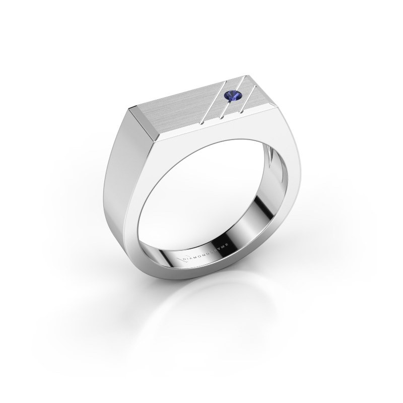 Men's ring Dree 5 925 silver sapphire 2.4 mm