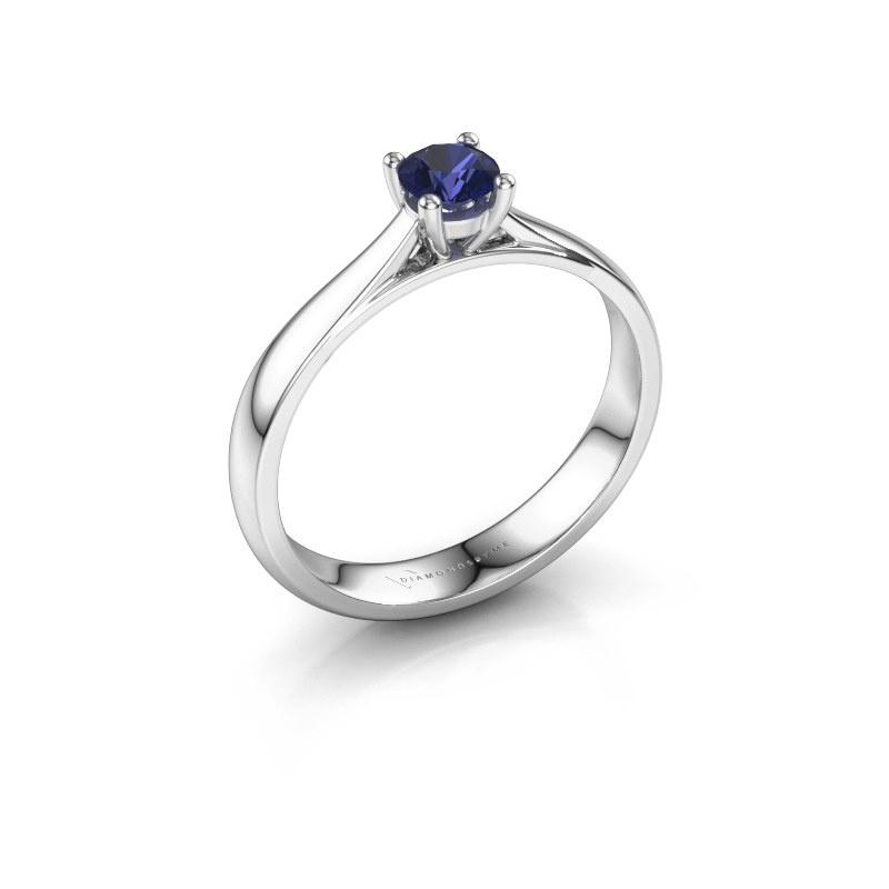 Engagement ring Sam 585 white gold sapphire 4.2 mm