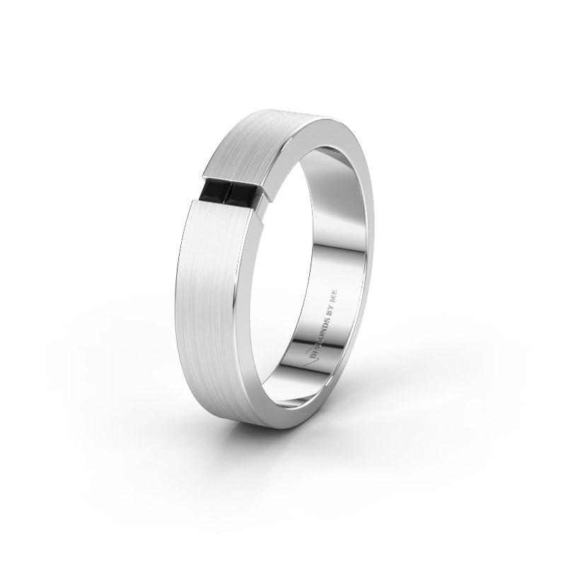 Trouwring WH2136M15E 925 zilver zwarte diamant ±5x2.4 mm