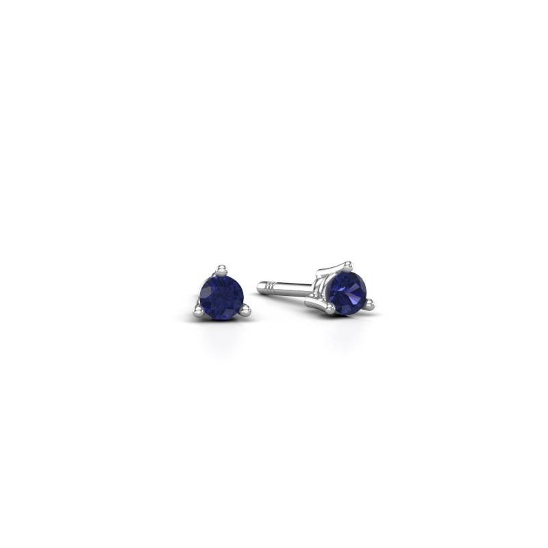 Stud earrings Somer 925 silver sapphire 3 mm