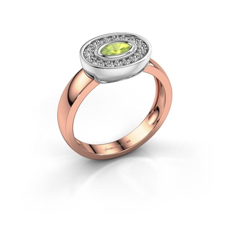 Ring Azra 585 Roségold Peridot 5x3 mm