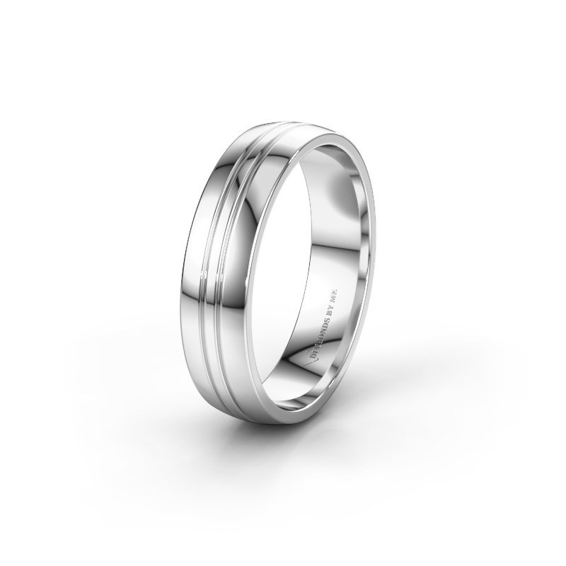 Wedding ring WH0420M25X 585 white gold ±5x1.5 mm