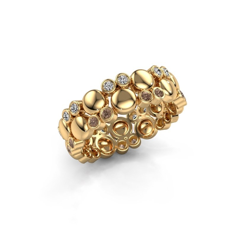 Ring Joanne 585 goud bruine diamant 0.336 crt