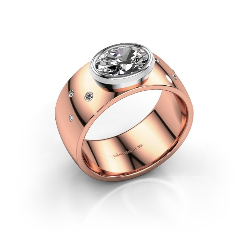 Ring Wilma 2 585 rosé goud lab-grown diamant 1.15 crt