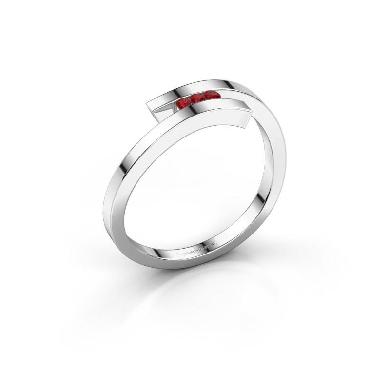 Ring Juliette 585 white gold ruby 1.6 mm