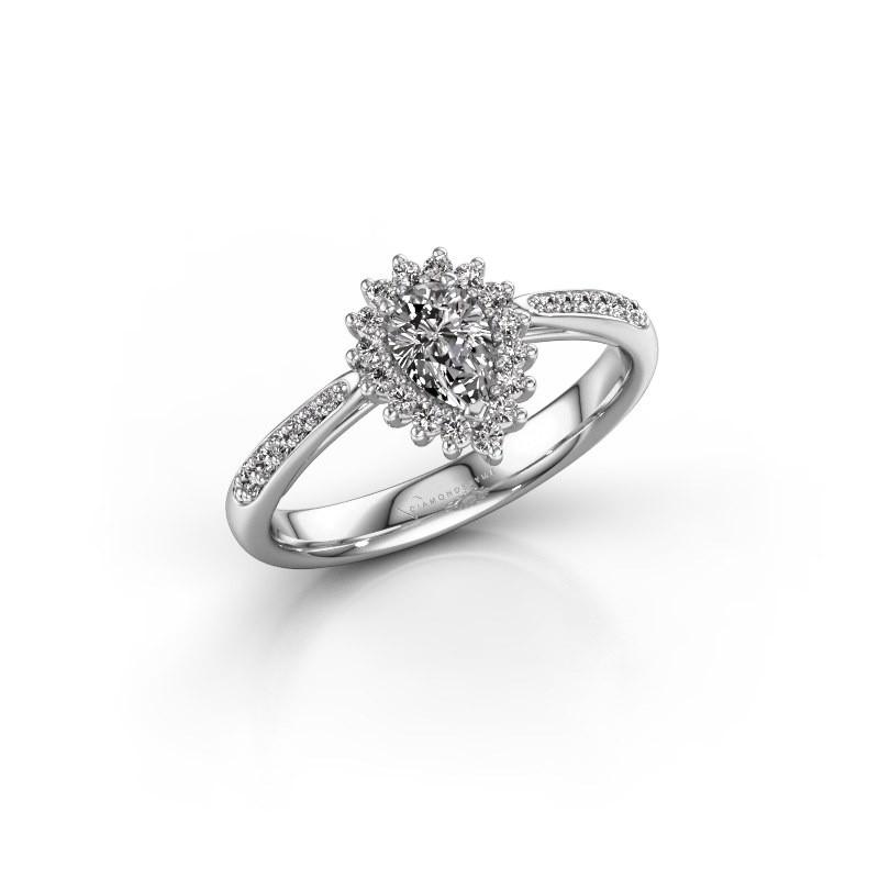 Verlovingsring Chere 2 925 zilver diamant 0.45 crt