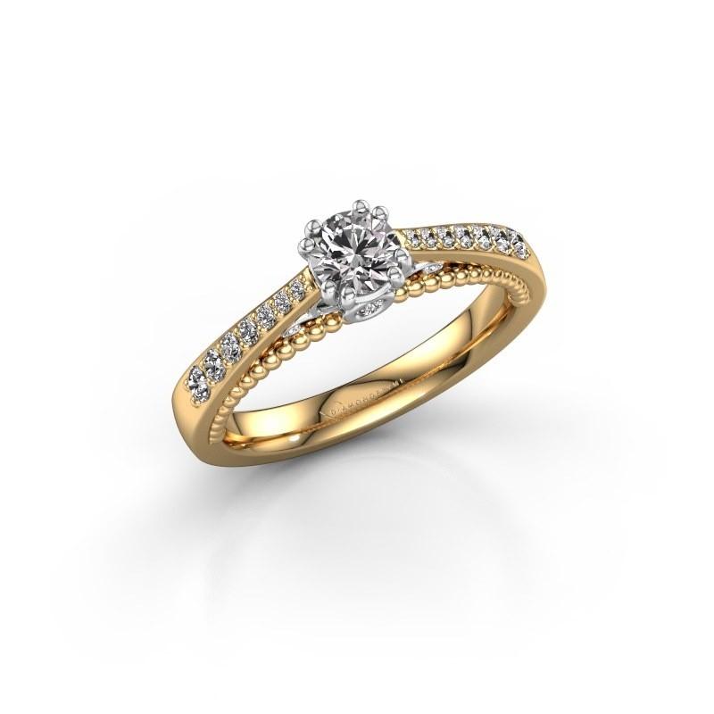 Verlovingsring Rozella 585 goud zirkonia 4.2 mm