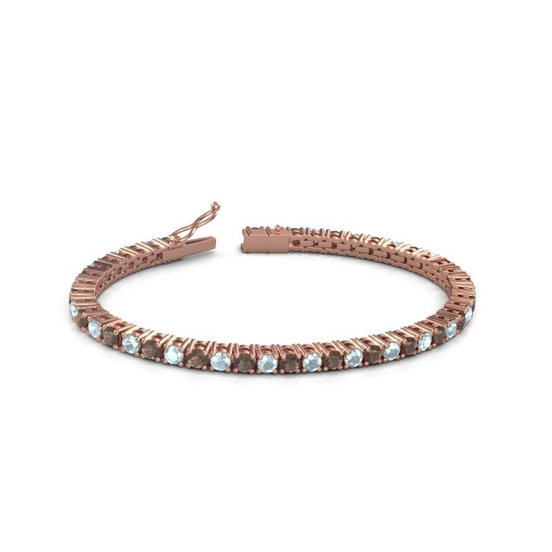 Tennisarmband Jenny 375 rosé goud rookkwarts 3.5 mm