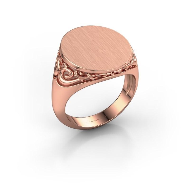 Heren ring Jelle 5 375 rosé goud