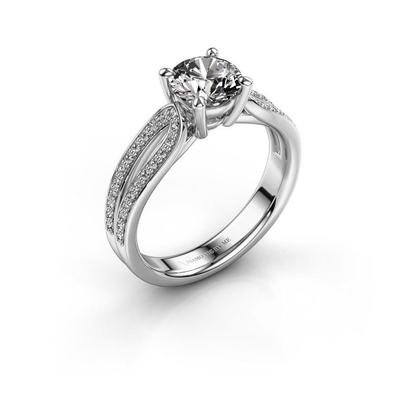 Engagement ring Antonia 2 585 white gold diamond 1.308 crt