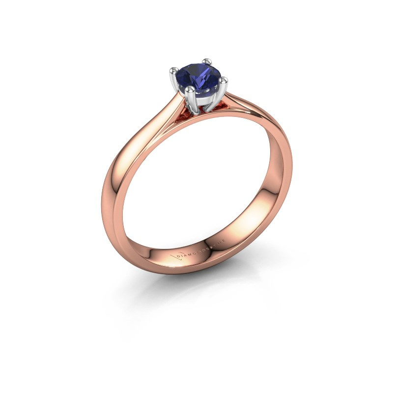 Engagement ring Sam 585 rose gold sapphire 4.2 mm