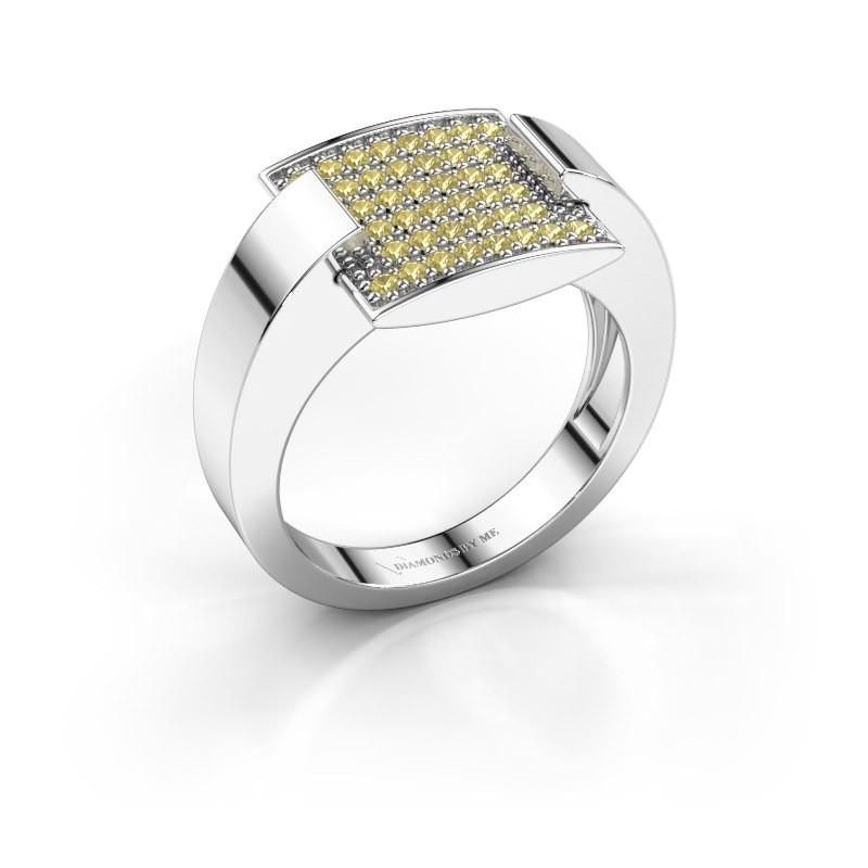 Ring Silke 925 zilver gele saffier 1.2 mm