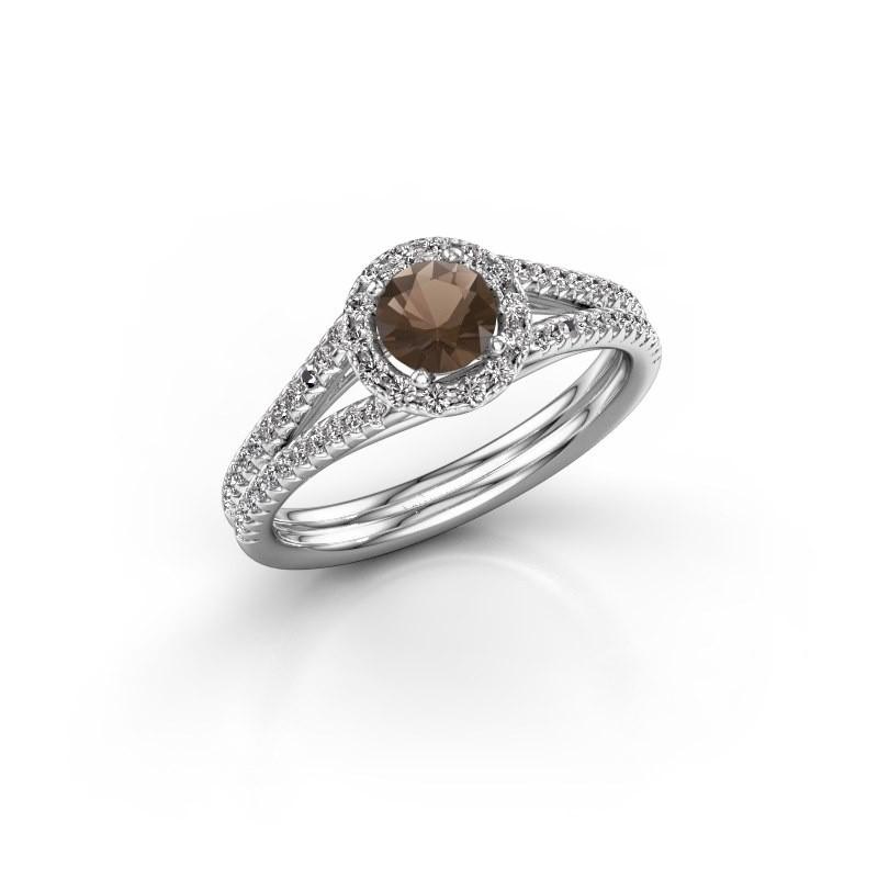 Verlovingsring Verla 2 925 zilver rookkwarts 4.7 mm