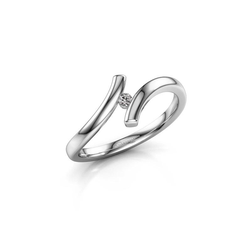 Ring Amy 950 platina diamant 0.03 crt