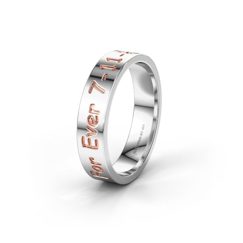 Wedding ring WH2130M15A 585 white gold ±5x1.7 mm