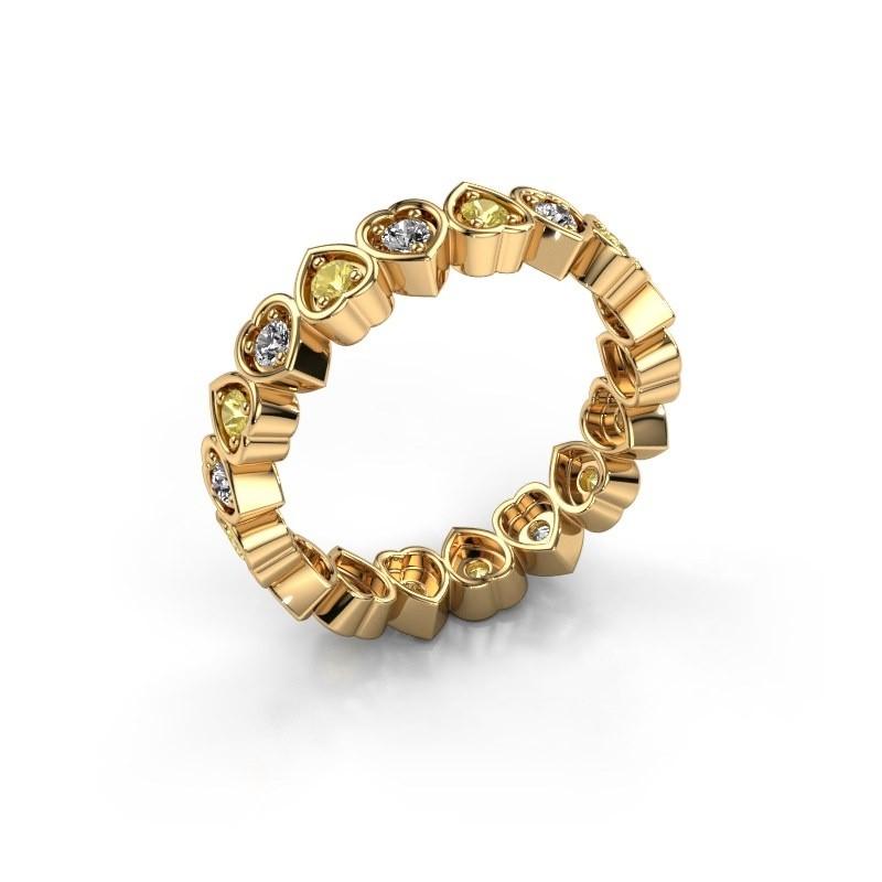Stackable ring Pleun 585 gold yellow sapphire 2 mm