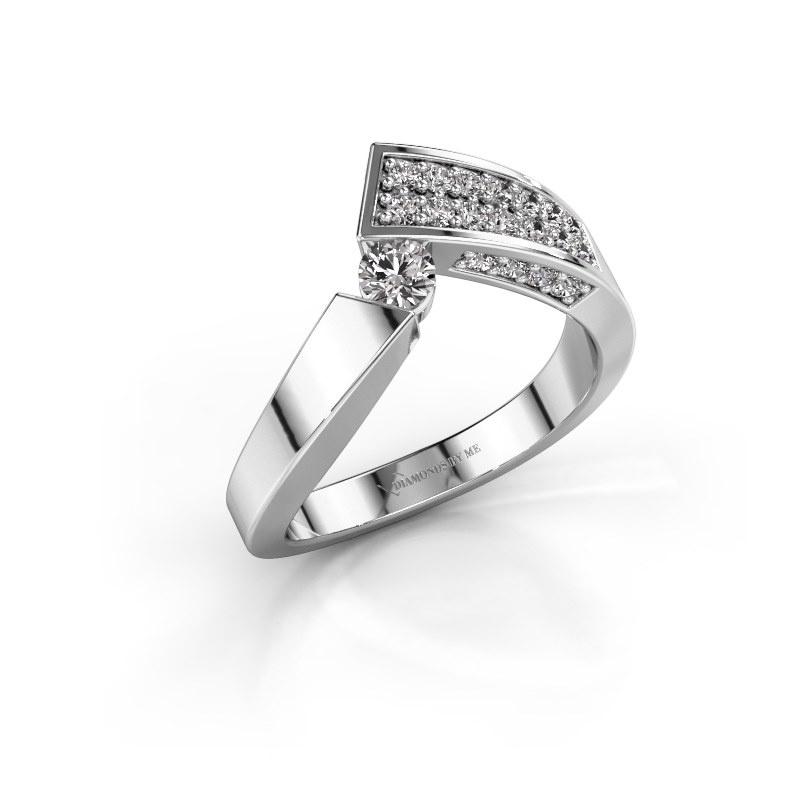 Ring Evie 585 white gold lab grown diamond 0.456 crt