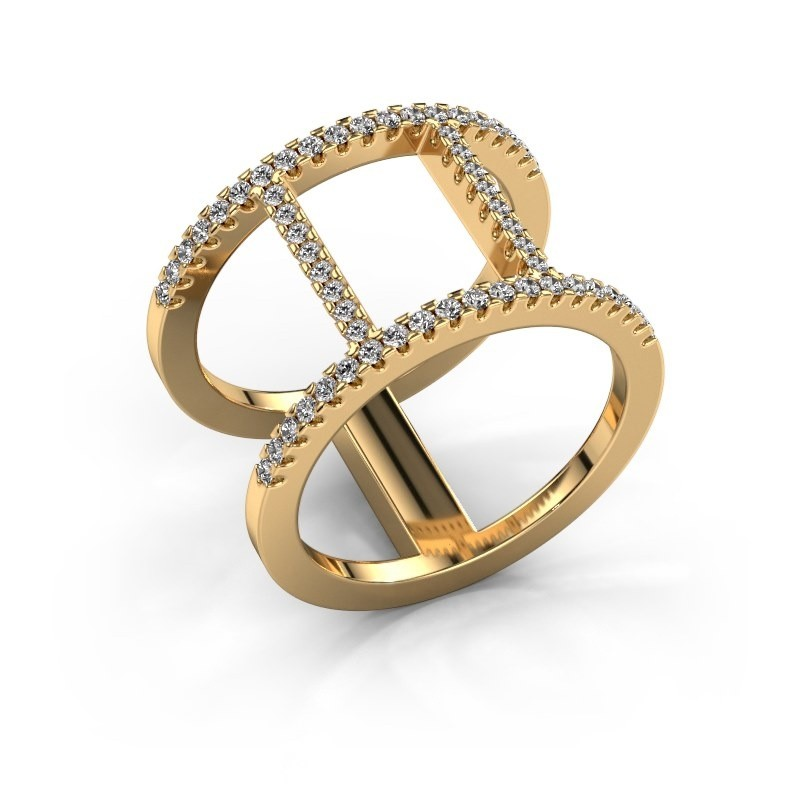 Ring Amee 375 Gold Zirkonia 1.2 mm