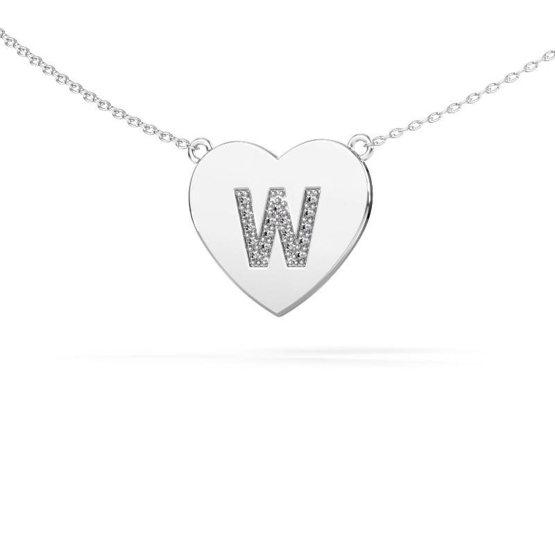 Letter hanger Initial Heart 925 zilver