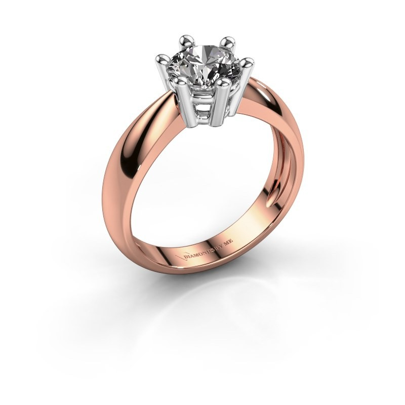 Verlovingsring Fay 585 rosé goud diamant 1.00 crt