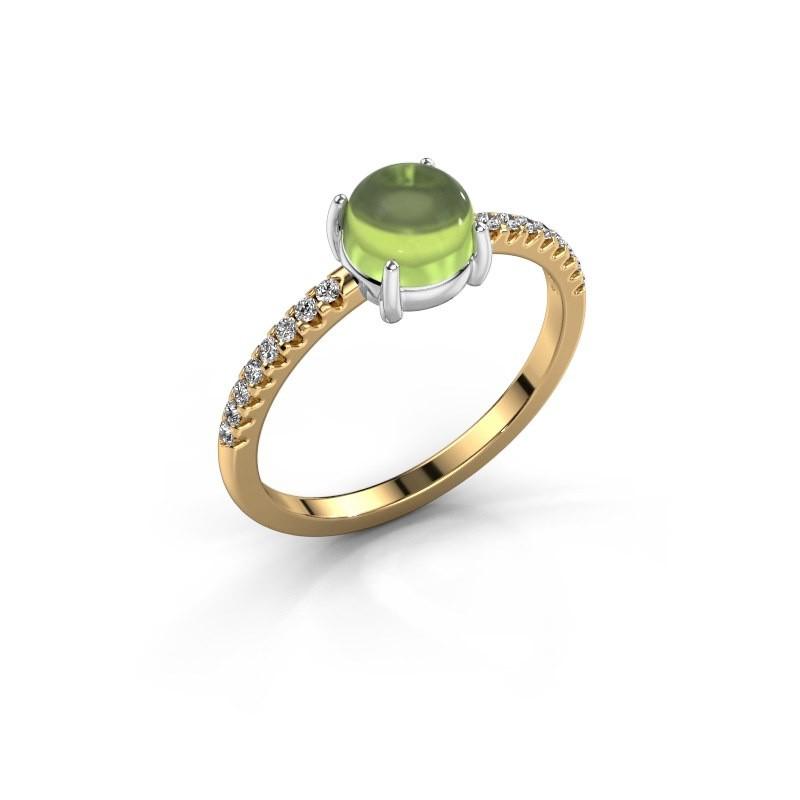 Ring Cathie 585 goud peridoot 6 mm