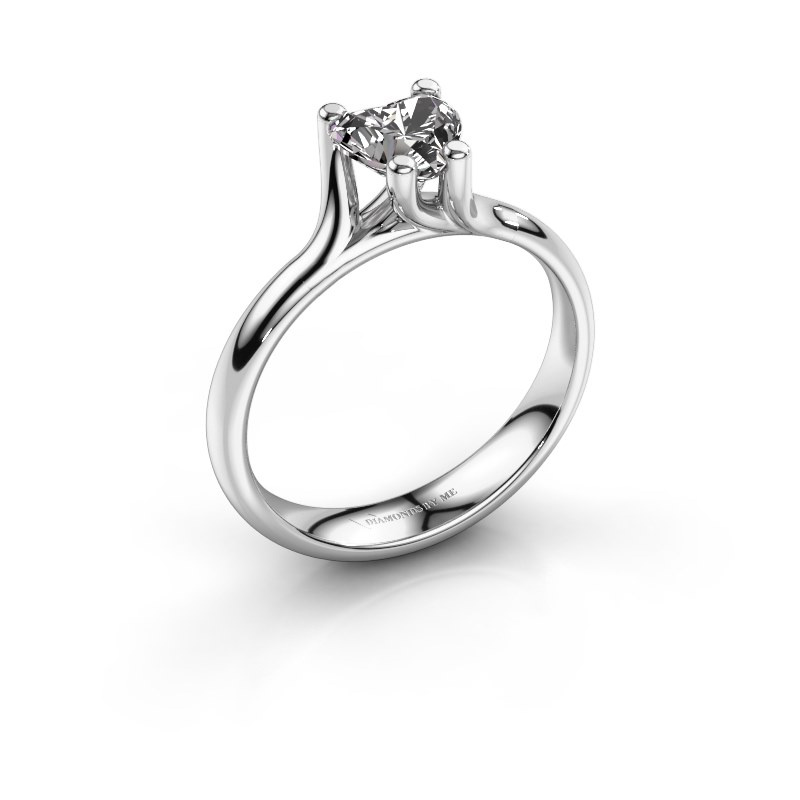 Engagement ring Dewi Heart 925 silver diamond 0.80 crt