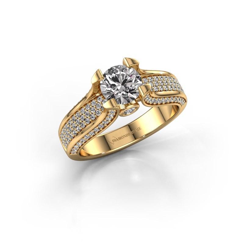 Verlovingsring Jeanne 2 375 goud diamant 1.592 crt