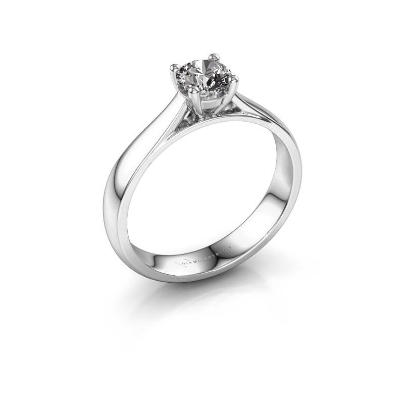 Bague de fiançailles Sam 585 or blanc diamant 0.50 crt